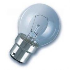 25w BC Bayonet Cap Clear Golf Ball Lamp 45mm Dia